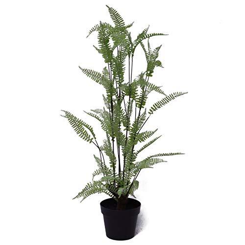 Leaf Hoja Planta de Follaje Artificial, Helecho Plata 90cm, 90 cm