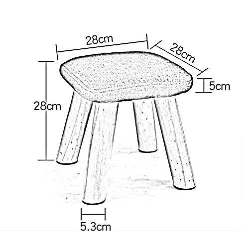 YIZ Modern Meubilair Vierkante Kruk Effen Hout Mode Vierkante Kruk Doek Sofa Kruk Thuis Koffie Tafel Kruk Hoge Been Kruk Bank #6