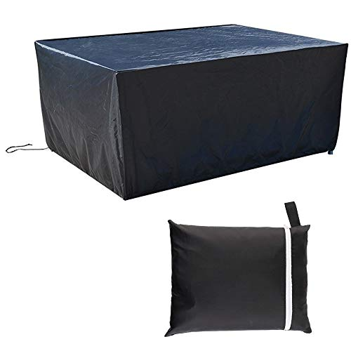 ZMYY Table Covers with Drawstring and Storage Bag Waterproof Anti UV Oxford Fabric Rip-Proof Rectangular Garden Furniture Covers Multiple Size (150x80x80cm)
