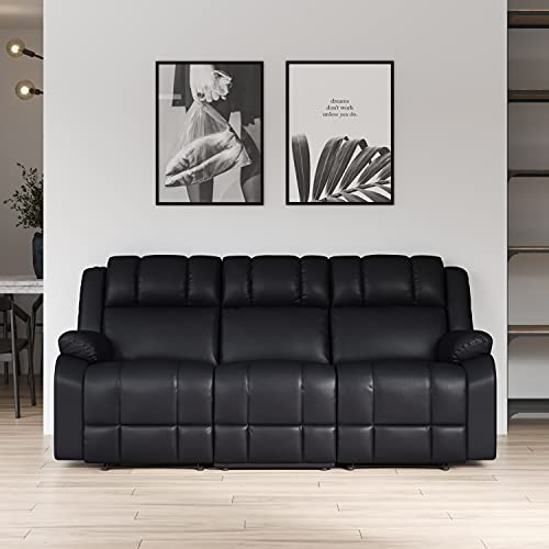 Relax A Lounger Ginny Reclining Sofa, Black