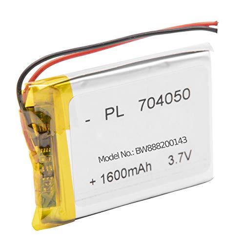 vhbw litio polímero batería 1600mAh (3.7V) para lámpara de mesa, lámpara de mesita de noche Fatboy Edison the petit