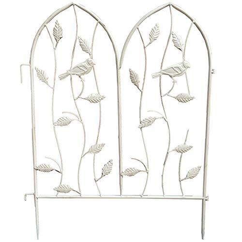 QILIN Dekorative Zäune, Kreativer Schmiedeeiserner Haustierzaun Zaun Zaun Topf Kletterrebe Blume Gartenarbeit Gartendekoration