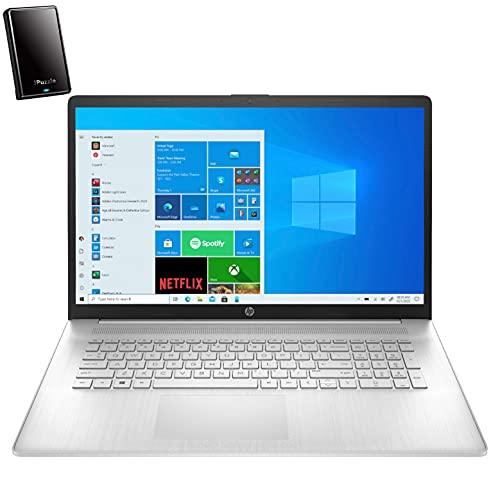 2021 Newest HP 17 17.3' HD+ Laptop Computer, Intel Core i3 1115G4 up to 3.2GHz (Beat i5-8365U), 16GB DDR4 RAM, 512GB PCIe SSD, AC WiFi, Bluetooth 4.2, Webcam, Windows 10, iPuzzle 320GB External HD