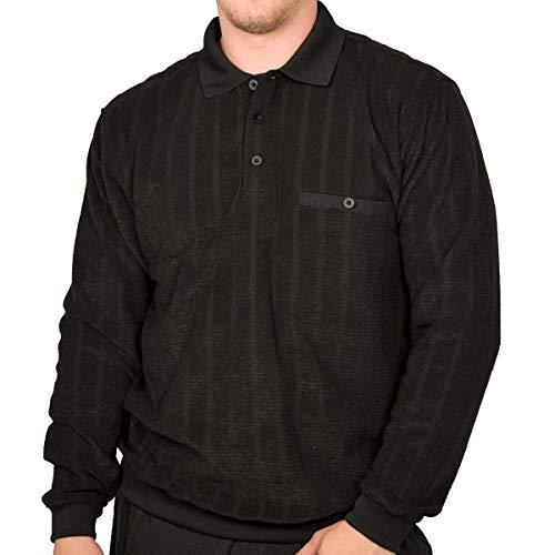 Classics by Palmland Long Sleeve Banded Bottom Shirt 6198-305 Big and Tall Black (2X, Black)