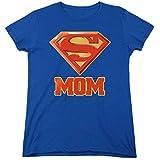 Superman Super Mom DC Comics Womens T Shirt & Stickers (X-Large)