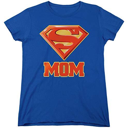 Superman Super Mom DC Comics Womens T Shirt & Stickers (Large)