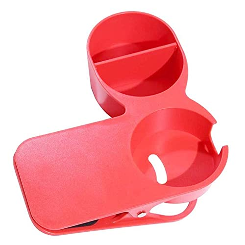 WSNBB Drinking Cup Holder Clips Clamp for Home Office Desk Table Cup Rack, Clip On Cup Holder for Office Chair Table Desk Side (RED)