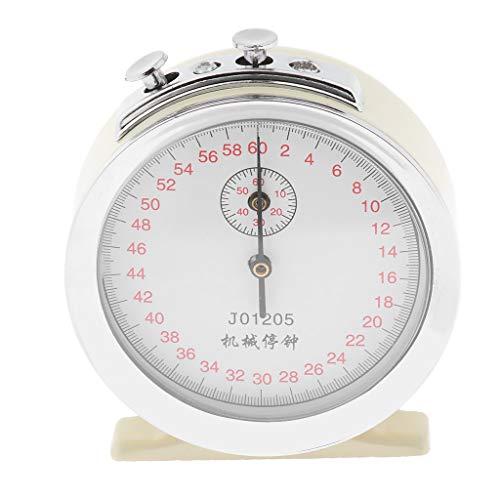 FLAMEER Cronómetro Mecánico Stop Clock de Experimento Productos de Laboratorial Materiales de Ciencia