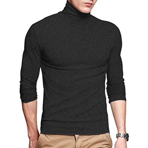 EYEBOGLER Regular Fit Men's Cotton Turtle Neck T-Shirt (M-EBT315-AG)