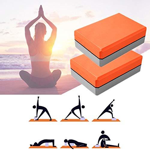 GuangLiu Bloque Yoga Ladrillos Yoga Bloque de Yoga Conjunto Pilates Bloques Yoga Kit de iniciación De Espuma Yoga Conjunto Bloques de Yoga Orange-Gray,1pc