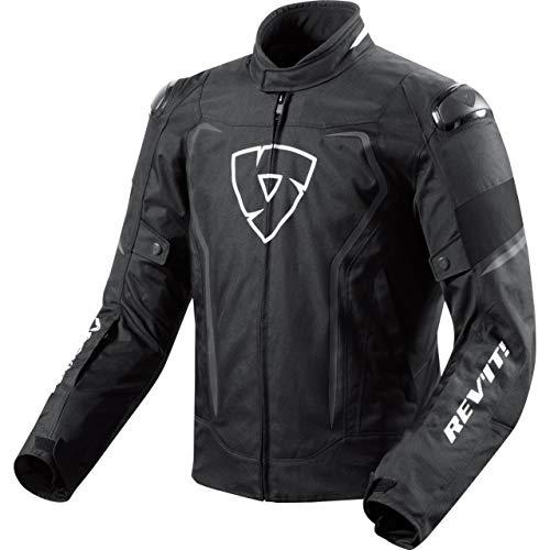 REV'IT! Motorradjacke mit Protektoren Motorrad Jacke Vertex H2O Textiljacke schwarz XL, Herren, Sportler, Ganzjährig