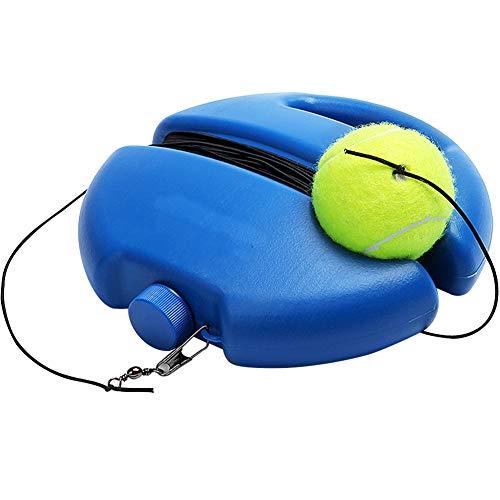 Entrenador de Tenis BESTZY Herramienta de Entrenamiento de Tenis Entrenador de Pelota de Tenis con Base de Poder de Rebote de Tenis con Pelota de Tenis