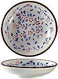TEPET Platos de Aperitivo Cuenco Redondo de cerámica Ensalada Cuenco de condimentos de Frutas Cuenco de condimentos de Salsa de Soja Plato de refrigerios de Sushi Plato de condimentos Platos de Salsa
