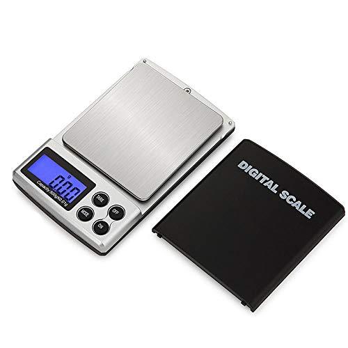 Mini balanza digital de alta precisión 100/200/300/500 / 1000g 0,01/0,1g Gramo de bolsillo eléctrico con retroiluminación para joyas ligeras 200g 0,01g