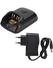 Cargador Walkie Talkie 100-240V (Enchufe de la UE) para Motorola XIR P8268 DP4400 DP4800 DP4801 DEP550 con indicador de Carga La Carga es más Conveniente