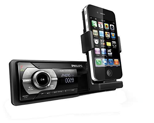 Philips CMD310 RDS AM/FM Autoradio mit versenkbarem Ständer für Apple iPhone und iPod (erneuert)