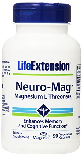 Life Extension, Neuro-Mag, Magnesium-L-Threonat, 2.000 mg, 90 vegetarische Kapseln