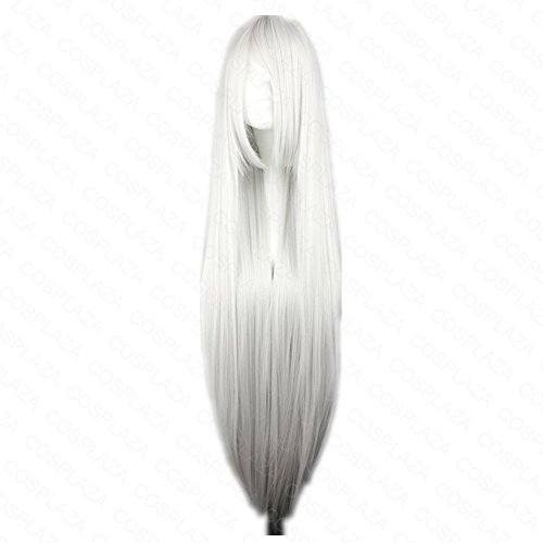 COSPLAZA - Peluca de pelo sintético, melena larga, color plata y blanco, para Cosplay, Inuyasha Sesshoumaru Suigintou