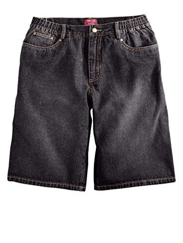Men Plus by HAPPYsize Herren Jeans-Bermuda – Kurze Freizeit-Shorts aus Reiner Baumwolle, Bequeme Jeans-Shorts, Sommer-Hose in Black Gr. 70