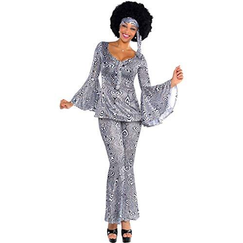 Amscan 844240-55 - Kostüm Dancing Queen, Oberteil, Hose, Stirnband, für Damen, 70er, 60er, Karneval, Fasching, Fastnacht, Mottoparty