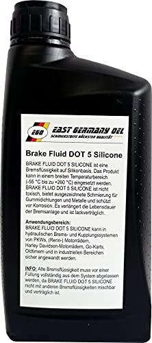 East Germany OIL Silikonbremsflüssigkeit Dot 5 Silicone Break Fluid Flasche 1 Liter Inhalt