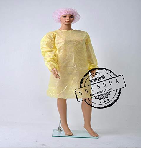 WANGYONGQI 10-delige wegwerp chirurgische jurk werkkleding met dun en licht stof, overalls, unieke schorten, medische kleding. cleanroom kledingstuk L C