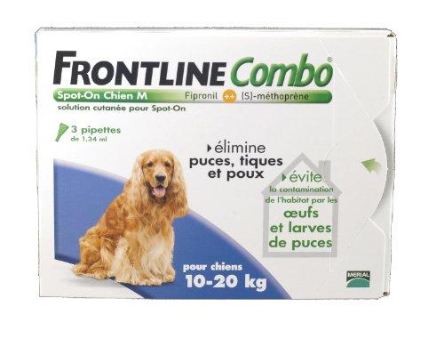 Frontline Combo chien 10/20 kg boite de 3 pipettes anti-puces et tiques