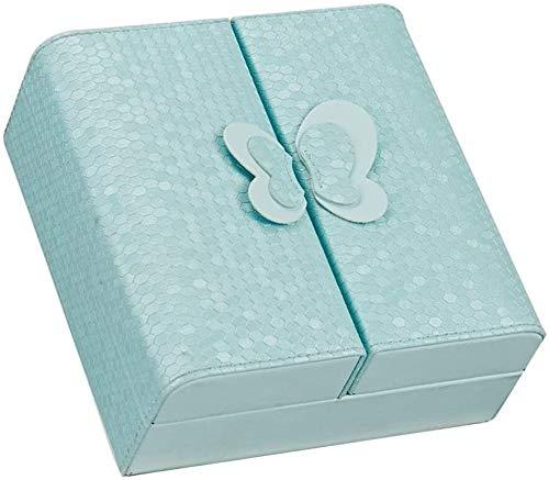 WSXEDC Caja de joyería pequeña joyería joyería caja de joyería portátil joyería estuche sintético pu de cuero joyería organizador mini joyería estuche de almacenamiento para mujeres y niñas cajas deco
