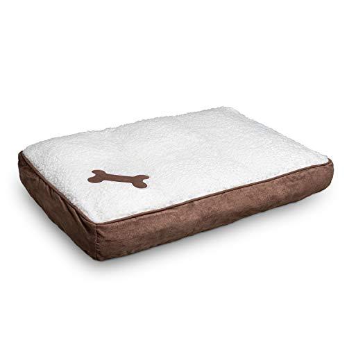 elan Coussin pour chien - Confortable - Facile à nettoyer - Matériau respirant - Aspect peau d'agneau - Idéal pour le transport - 68 x 42 cm