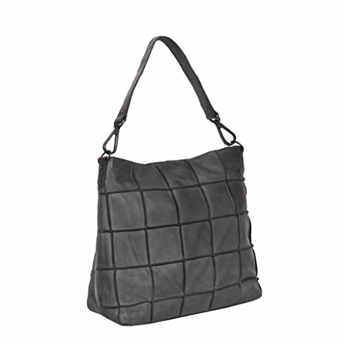 Chesterfield Bags Leren Hobo Lynn Black Label Antraciet