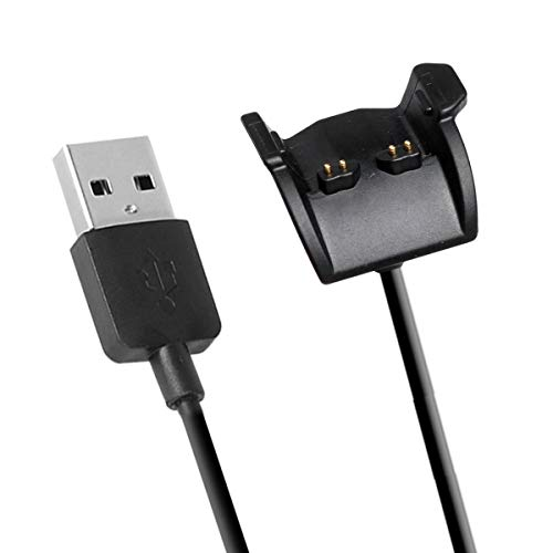 Cikuso Cargador para Vivosmart HR, Cable De Carga De Repuesto Cable para Vivosmart HR/Vivosmart HR + (Negro)