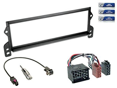 NIQ Baseline Connect Kit d'installation d'autoradio pour BMW Mini (R50 - R53) avec câble adaptateur et adaptateur d'antenne Noir