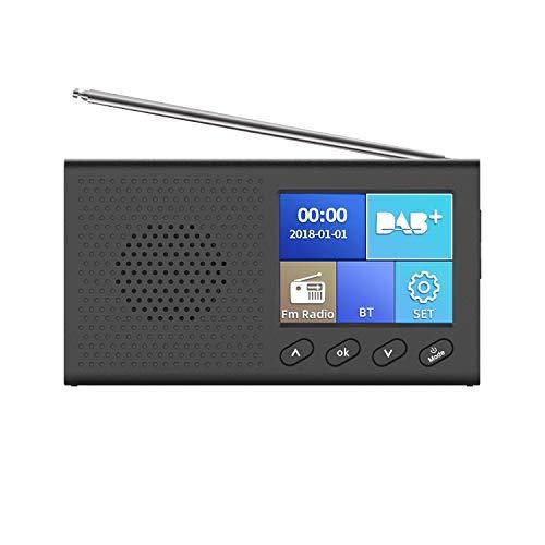 KKmoon digitale wekker, LED digitale wekker DAB FM-wekker Radio USB oplaadbaar draadloze reiswekker met stereo luidspreker 3 helderheid voor kantoor, slaapkamer, reis