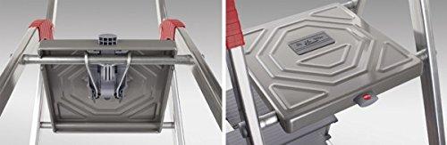 Hailo 8933-021 traploze ladder, max. Werkhoogte 2,35 m.