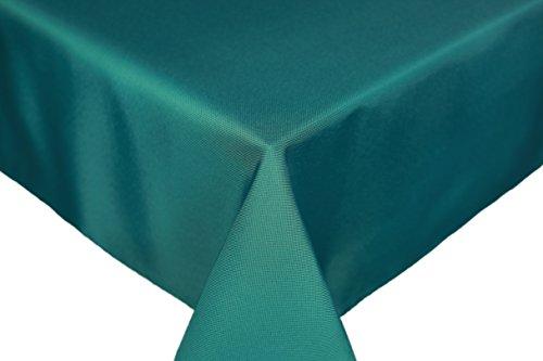 HomeDirectIE Nappe Anti-Tache Polyester Rectangulaire 140 x 240 cm Uni (Bleu Vert)