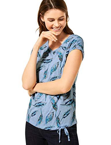 Cecil Damen 315011 T-Shirt, Light Blue Melange, Medium