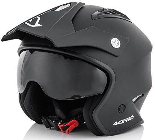 Acerbis Jet Aria Casco, Nero Opaco, Taglia, XL