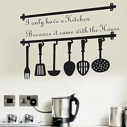 HGFDHG Etiqueta de la Pared Cocina Viene casa Cita de la casa Restaurante Vinilo calcomanía de Pared diseño de Arte Mural