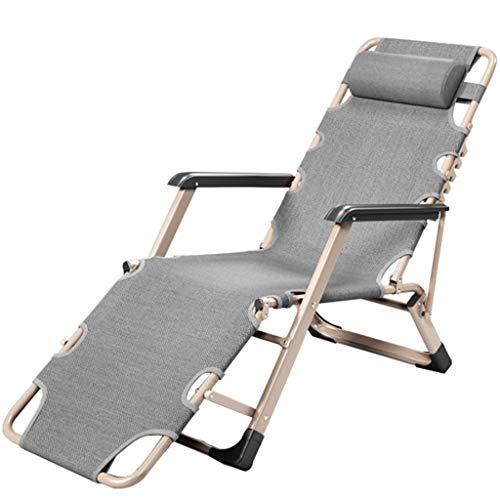 Tumbonas Sillón reclinable Plegable Almuerzo balcón hogar Ocio Playa Individual sofá Perezoso portátil Almuerzo Cama Silla Plegable