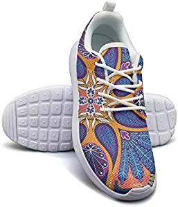 Woman Sneaker Indian Paisley Boho Style Novelty Rubber Sole Workout Shoes