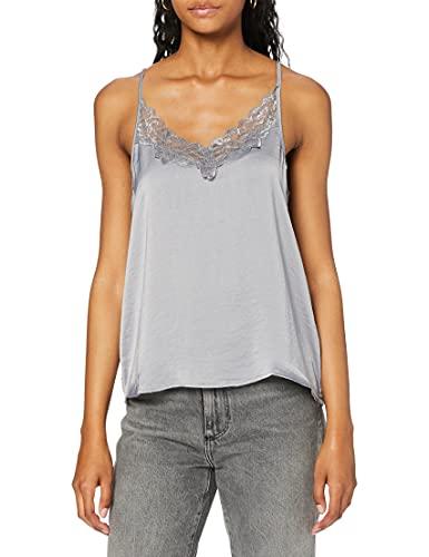 JDY Jdyappa Singlet Wvn Noos Camiseta sin Mangas, Gris (Sharkskin Detail: DTM Lace), 38 (Talla del Fabricante: 36) para Mujer