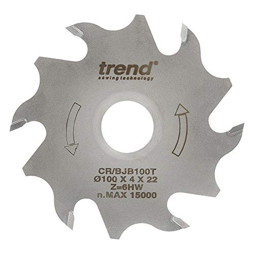 Trend CR/BJB100T Craft Pro Thin Body Biscuit Joining Circular Saw Blade, Tungsten Carbide Tipped, 100mm x 6 Teeth x 22mm Bore