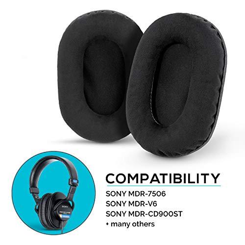 Brainwavz Ohrpolster für Sony MDR 7506 - V6 - CD900ST mit Memory-Foam-Ohrpolster und geeignet für andere On-Ear-Kopfhörer Micro Suede