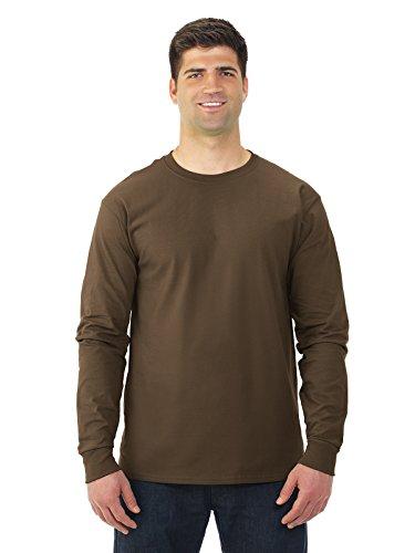 Fruit of the Loom 5 oz.Heavy Cotton HD Long-Sleeve T-Shirt (4930) -Chocolate -XL
