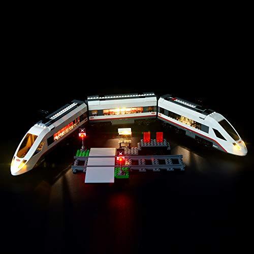 Briksmax Hochgeschwindigkeitszug Led Beleuchtungsset - Kompatibel Mit Lego 60051 Bausteinen Modell - Ohne Lego Set.