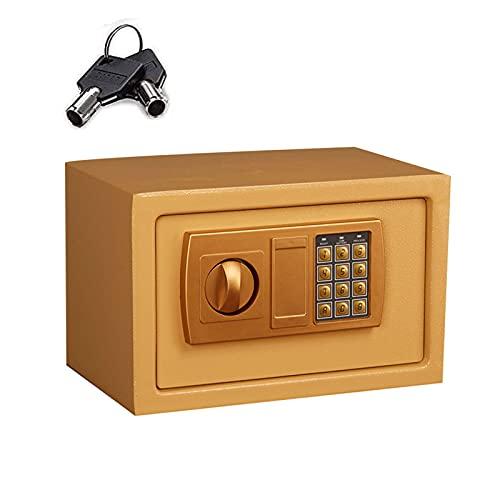 GQTYBZ Caja de Seguridad Digital con Contraseña Electrónica, Pequeña Cerradura de Llave de Caja Fuerte en Efectivo Todo Acero, Seguro y Sin Preocupaciones, para el Hogar/Oficina/Interior