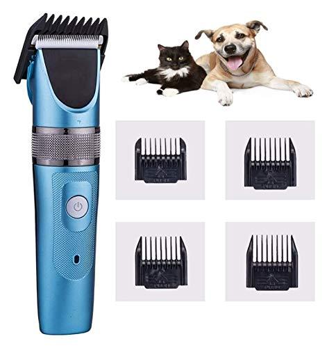 Clippers para perros, afeitadora de gato inalámbrica recargable profesional de 2 velocidades, bajo ruido, cortadora de perros eléctricos Kit de aseo para mascotas, para perros, gatos y otras mascotas