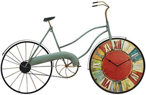 Unbekannt Persönlichkeit Wanduhr Industrie Artdekorationen Wall Restaurant Retro Barber-Hintergrund-Wand-Fahrrad-Anhänger Wanduhr Präzision