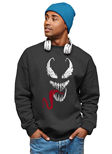 Spiderman Venom Face Marvel PS5 Gaming Unisex Sweater TV Sweatshirt Herren & Damen Gr. S, Schwarz