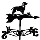 Espira Springer Spaniel Dog Black Mini Weathervane